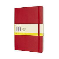 Блокнот Moleskine Classic Красный Большой 192 страницы в Клетку Мягкая обложка (19х25 см) (8055002854689)