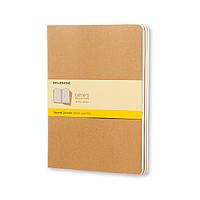 Блокнот Moleskine Cahier Бежевый Средний 80 страниц Клетка (13х21 см) (9788883705052), фото 1
