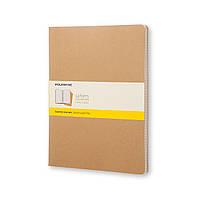 Блокнот Moleskine Cahier Бежевый XXL 120 страниц Клетка (21х30 см) (8055002851480)
