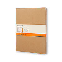 Блокнот Moleskine Cahier Бежевый XXL 120 страниц Линейка (21х30 см) (8055002851473), фото 1