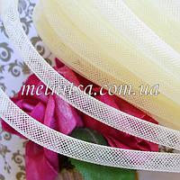 Регилин трубчатый, 0,9 см,   цвет кремовый