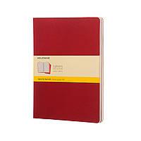 Блокнот Moleskine Cahier Бордовый Большой 120 страниц Клетка (19х25 см) (9788862931083), фото 1