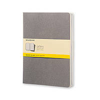 Блокнот Moleskine Cahier Тёплый Серый Большой 120 страниц Клетка (19х25 см) (CH322), фото 1