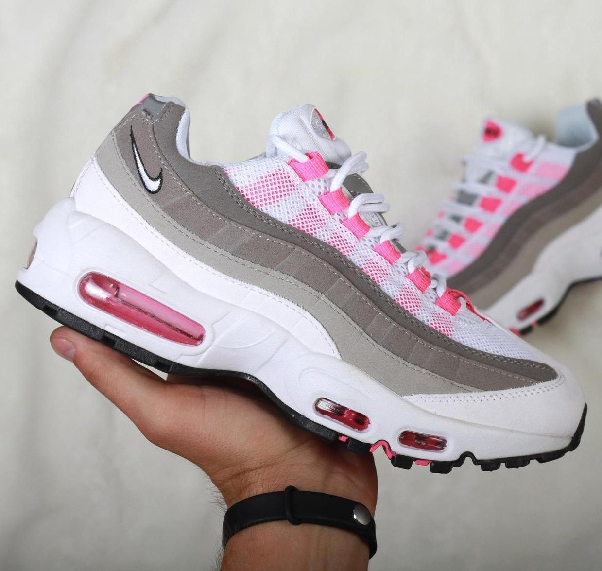 9cba7a72 Женские кроссовки Nike Air Max 95 Violet Grey/Pink/White: купить в ...