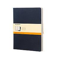 Блокнот Moleskine Cahier Синий Большой 120 страниц Линейка (19х25 см) (9788862931106)
