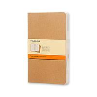 Блокнот Moleskine Cahier Бежевый Большой 120 страниц Линейка (19х25 см) (9788883705045)