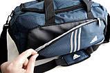 Спортивная сумка Adidas. Сумка в дорогу. Большая дорожная сумка. Сумки адидас., фото 4