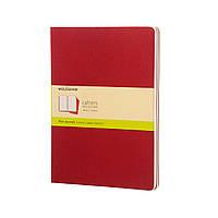 Блокнот Moleskine Cahier Бордовый Большой 120 страниц Чистые листы (19х25 см) (9788862931090)