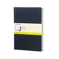 Блокнот Moleskine Cahier Синий Большой 120 страниц Чистые листы (19х25 см) (9788862931120)