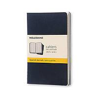 Блокнот Moleskine Cahier Синий Карманный 64 страницы Клетка (9х14 см) (CH212), фото 1