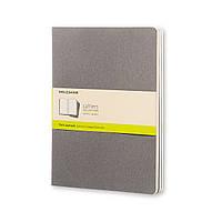 Блокнот Moleskine Cahier Серый Большой 120 страниц Чистые листы Теплый (19х25 см) (9788866134282)