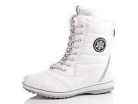 Зимние высокие белые кроссовки с мехом 36 38