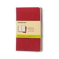 Блокнот Moleskine Cahier Бордовый Карманный Чистые листы (9х14 см) (CH113), фото 1