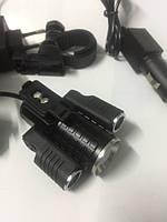 Фонарь на лоб + велофара Small Sun 12V T6(zoom)+2 XPE(наклон), 2х18650, ЗУ 12V/220V, комплект