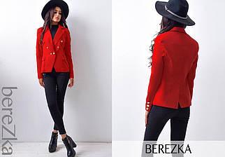 Стильный красный женский пиджак на подкладке 44 р