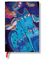 Блокнот Paperblanks Фантастические коты Синие Мини в Линейку (10х14 см) (PB1019-7) (9781439710197), фото 1