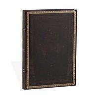 Блокнот Paperblanks Старая Кожа Классический Средний в Линейку Чёрный (13х18 см) (PB3519-0), фото 1