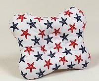 Детская подушка ортопедическая бабочка MAMYSIA 143 Морские звёзды 22 х 26 см