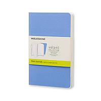 Блокнот Moleskine Volant Синий Карманный 80 страниц Линейка 2 шт. (9х14 см) (QP711B12)