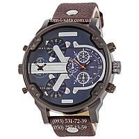 Мужские часы Diesel DZ7314 Brown-Black-Blue, кварцевые, элитные часы Дизель Брейв, кожаный ремешек