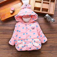 Куртка зимняя детская мелкие сердечки