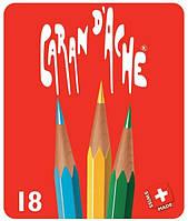 Набор Карандашей Caran d'Ache Red Line Металлический бокс, 18 цветов (288.418), фото 1