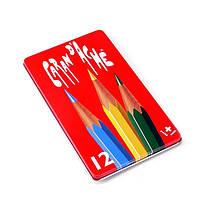 Набор Карандашей Caran d'Ache Red Line Металлический бокс, 12 цветов, фото 1