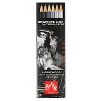 Набор Карандашей Caran d'Ache Graphite Line Металлический бокс, 6 шт.