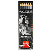 Набор Карандашей Caran d'Ache Graphite Line Металлический бокс, 6 шт. (775.306)