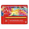 Набор Акварельных Карандашей Caran d'Ache Swisscolor Металлический бокс, 30 цветов