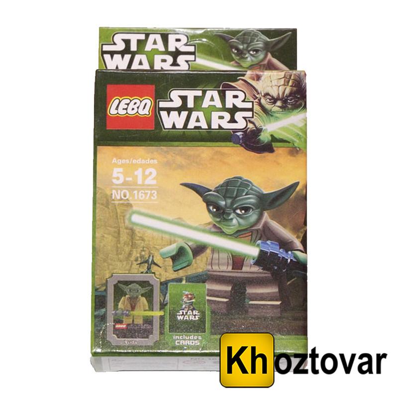 """Фигурка-конструктор для детей 5-12 лет """"Зведные войны. Магист Йода"""" LEBQ Star Wars Yoda №1673"""