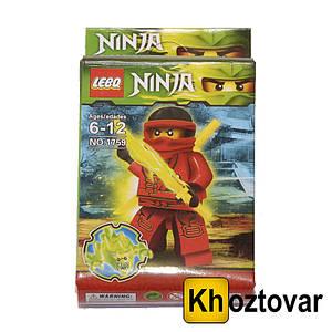 """Фігурка-конструктор для дітей від 6 до 12 років """"Кай Ніндзя""""   Ниндзяго   LEBQ Ninja №1759"""