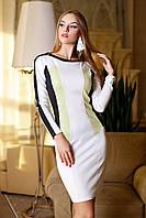 Трикотажное женское платье в офисном стиле, фото 1