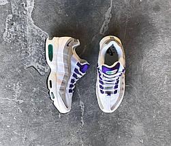 Мужские кроссовки Nike Air Max 95 Premium OG White/Court Purple, фото 2