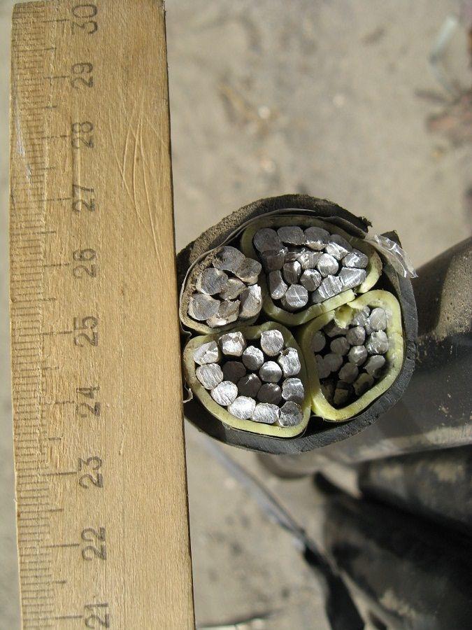 Кабель силовий алюмінієвий монолітний АВВГ 3х150+1х70 ГОСТ