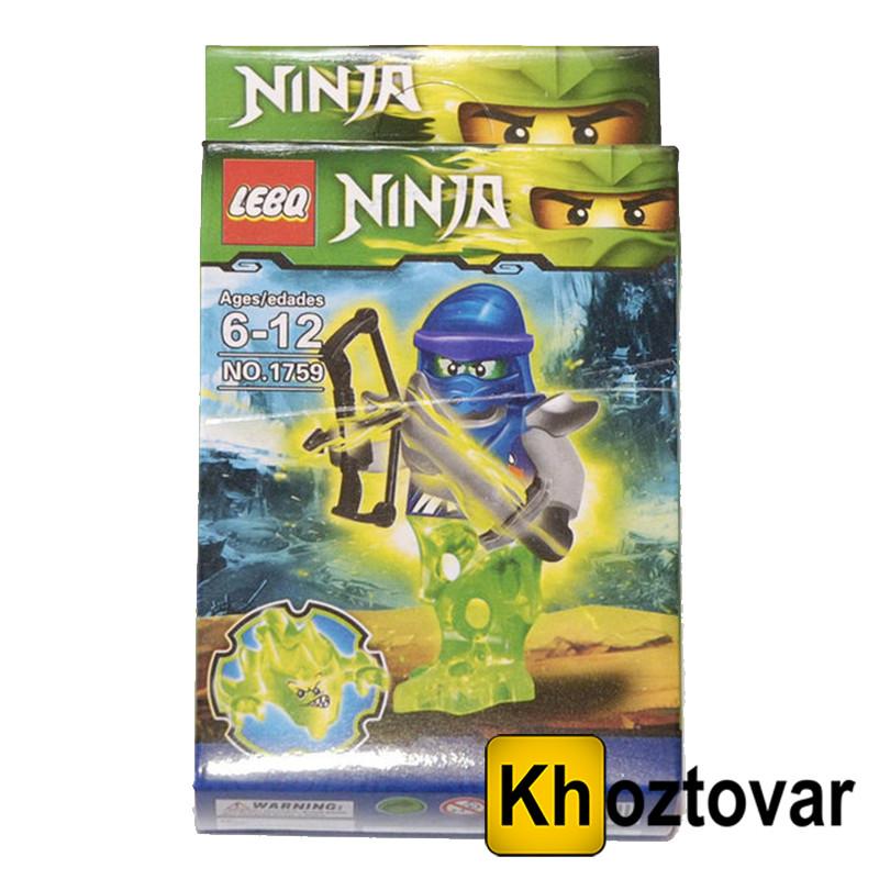 """Фігурка-конструктор для дітей від 6 до 12 років """" Ниндзяго. Джей"""" LEBQ Ninja №1759"""