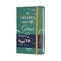 Блокнот Moleskine Limited Peter Pan Карманный 192 страницы в Линейку Зеленый (9х14 см) (8055002855464), фото 1
