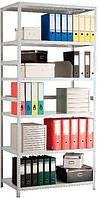 Стеллаж офисный Valberg складской серии MS-185 (185см/70x30) - 6полок (MS-185 (185см/70x30) -)