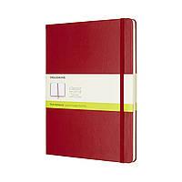 Блокнот Moleskine Classic Красный Большой 192 страницы Нелинованный (19х25 см) (8055002855105), фото 1