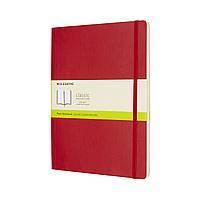 Блокнот Moleskine Classic Красный Большой 192 страницы Нелинованный Мягкий (19х25 см) (8055002854696), фото 1