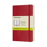 Блокнот Moleskine Classic Красный Карманный 192 страницы Нелинованный Мягкий (9х14 см) (8055002854610), фото 1