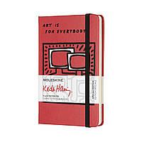 Блокнот Moleskine Limited Keith Haring Карманный 192 страницы Красный Нелинованный (9х14 см) (8055002854818), фото 1