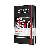 Блокнот Moleskine Limited Keith Haring Средний 240 страниц Черный в Линейку (13х21 см) (8055002854825), фото 1