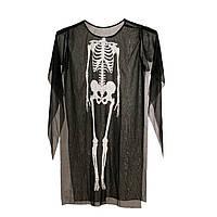 Накидка скелета детская, аксессуар на Хэллоуин