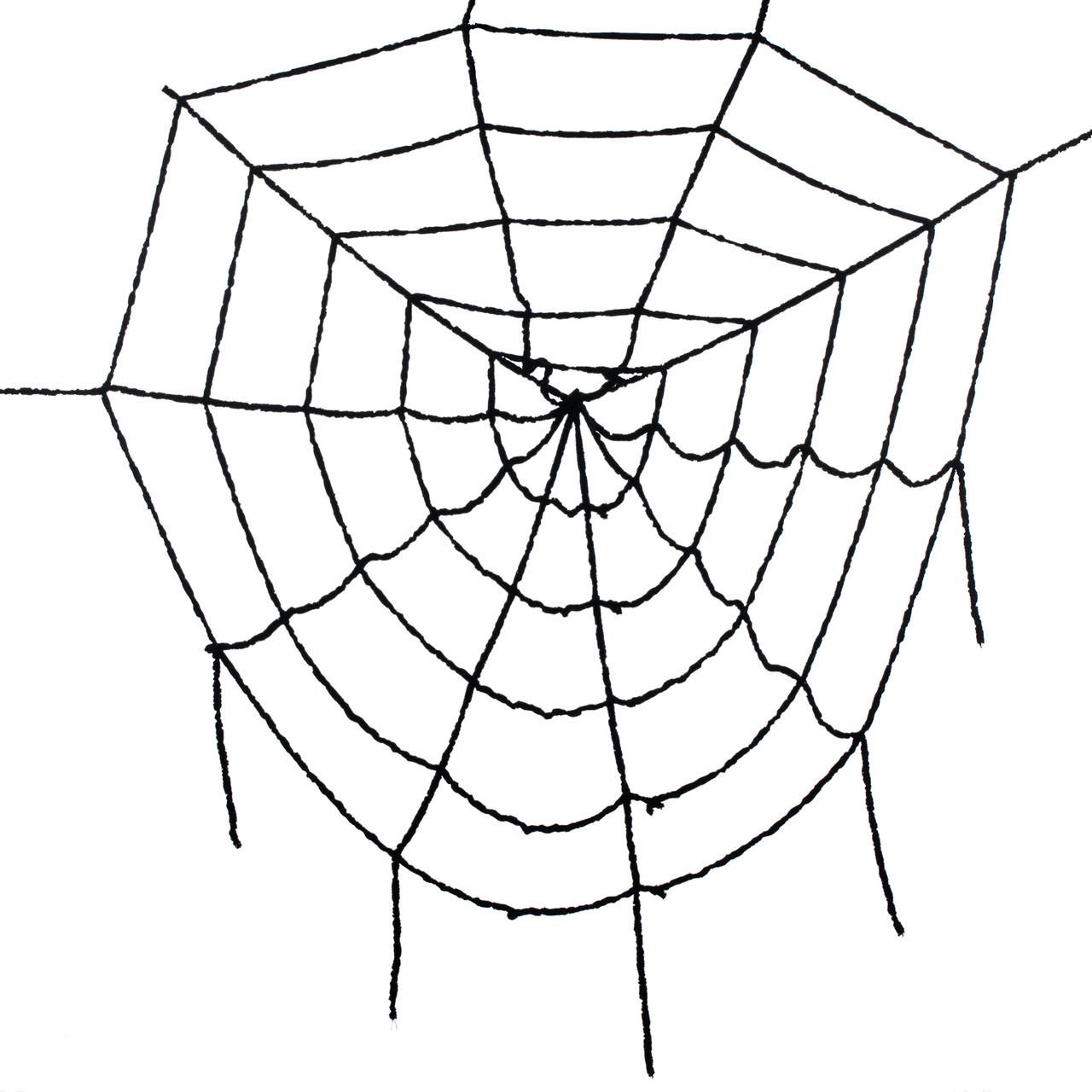Черная паутина 1,5 метра - декорация для Хэллоуина
