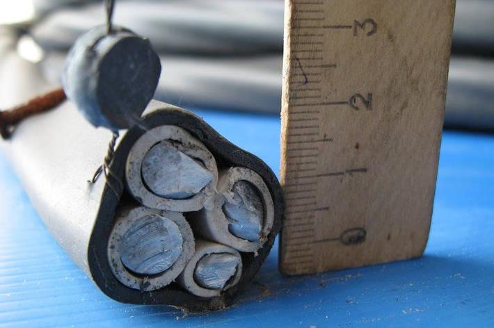Кабель силовий алюмінієвий монолітний АВВГ 3х50+1х25 ГОСТ, фото 2