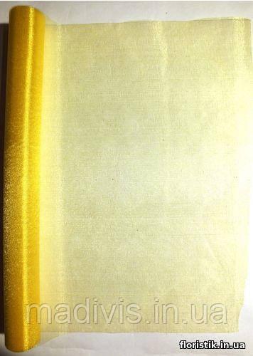 Органза снег желтая (48 см. х 4,6 м.)