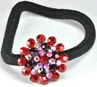 Заколки, украшение для волос Р1165-2 красная