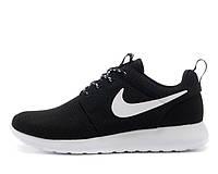 Кроссовки Nike Roshe Run 1 найки рош ран черн+бел классик унисекс