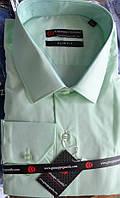 Салатовая приталенная рубашка GUISEPPE GENTILE (размеры S.XL.XXL)